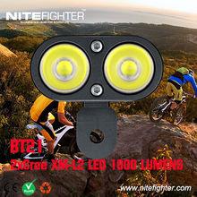 Nitefighter BT21 road biking high-end helmet light 1800lumens super bright waterproof LED bicycle light
