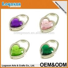 China cheap metal Heart shape bag accessories buckle