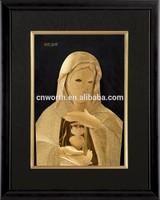 24K Gold 3D Model Foil Photo Frame With Jesus For Christmas Gift