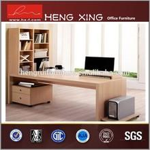 Modern computer table/computer desk with bookshelf HX-CL136