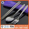 3 pcs knife fork spoon set camping picnic set