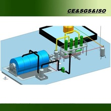 tyre oil & carbon black production recycle tyre machine making oil