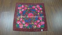 Russian Pavlovo Posad Shawl 89x89cm/35x35'',100% Wool Floral scarf wrap kerchief