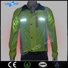 wholesale green waterproof hi vis wholesale flashing reflective sport jacket