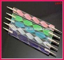 YASHI Purple Nail Art Design Dotting Pens/ tools brush for nail art in 2015