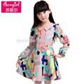 um pedaço de meninas vestidos de festa 2015 do laço novo design vestido da menina crianças vestidos de moda de nova