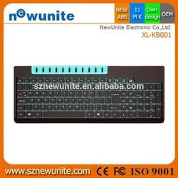 2015 HOT 100% new abs multimedia wireless computer keyboard