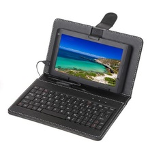 """7"""" universal micro USB keyboard and leather case for 7 inch tablet pc"""