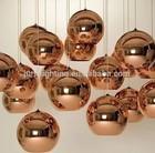 golden glass ball pendant light