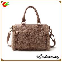 Women`s Glamour Sienna leather Rivet Tote Satchel Bag