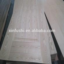moulded door skin with natural veneer ash