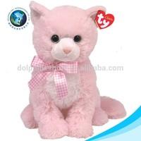 Lifelike cute pink cat toy stuffed soft plush toy cat dolls