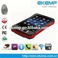 ekemp ip65 impermeável de alta resolução da tela de toque do tablet pc suporte fingerprint sistema de atendimento em802