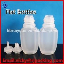PE oval childproof colored cap eliquid dropper bottle 20ml
