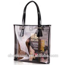 2015 Fashion PVC clear tote bags,beach bag