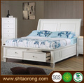blanco de madera mdf diseños de la cama