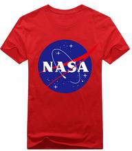 Wholesale clothing! 2015 new men summer tops tees short sleeve NASA printed cotton t shirt,red/green/white/black t shirt