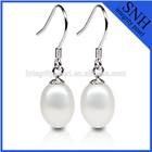 7.5-8mm drop long pearl earrings