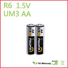 r6 battery 1.5v aa r6 sum3 carbon zinc battery