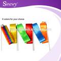 Comprimento ajustável profissional de fita de seda ambiental de ginástica rítmica de dança ribbonlong- termo de uso de fita de ginástica