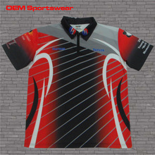 Polyester sport jersey sublimated racing pit crew shirt wholesale