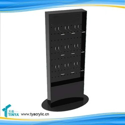 Promotional Cheap Acrylic Lucite Mobile phone accessories hook display racks