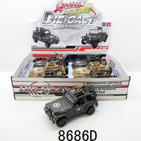Small classic car model, push back smart jeep cars metal diecast toy