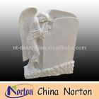 european style carved flower tombstone white angel grainte gravestone NTGT-090