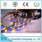 High light 5050 60leds RGB led flex strip , DC 12V ,10mm white board