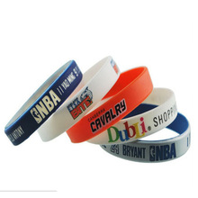 custom logo silicone wrist band