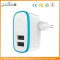 Azul inteligente IC viruta del USB 2 Pin Pin redondo adaptador de enchufe europeo con una función de - fusible evita