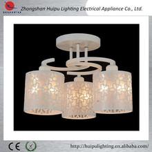 novel design pattern elegant globle white ceiling lamp