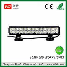 "High power 17"" off road led light bar,CE,Rosh approved 3w*36pcs car led light bar"
