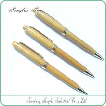 novelty wooden pen Twist Metal Ballpoint Pen Wood Gold Pen