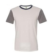 60% polyester 35% cotton 5% spandex contrast custom mens promotion t-shirt