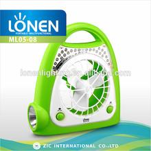 LONEN best quality multi-function rechargable fan with light