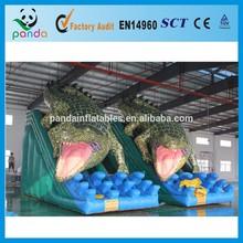 Custom Slip n Slide Inflatable with Bigger Crocodile for Interesting Toy Game