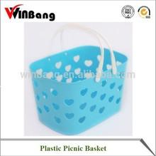 Winbang Skep Picnic Basket plasktic shopping basket Plastomer Skep with Handle