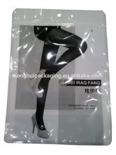stockings plastic bag/ silk stockings packing/ resealable stockings bag