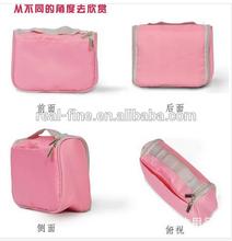 2015 Free shipping canvas waterproof big capacity toilet kit / travelling wash bag hanging toiletry kit cosmetic bag