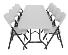 White Desk and Chair, Children Folding Desk and Chair, Combo School Desk and Chair