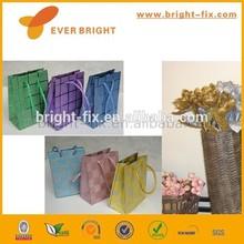 customized paper gift bag,origami gift bag,bows ribbon gift bag