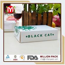 Hot china products black cardboard sushi boxes, small sushi box