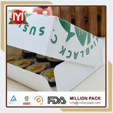 Fashion packaging paper sushi box 2015, guangzhou paper sushi box