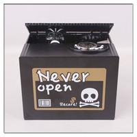 2015 new toys for kid Skull Stealing Coin box Piggy Banks Plastic Money Box