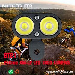 Nitefighter BT21 aluminum hard anodized high-end 1800lumens bike helmet light