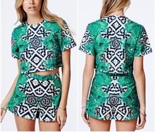 New Fashion OEM Latest Design Girl Top Custom Printed Crop Tops
