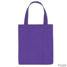 Cheap Customize LOGO Print Shopping Bag Promotion Purple Tote Bags