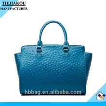 ladies ostrich textured winged handbag custom