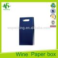 Azul marino español caja de vino con mango 3l bolsa en caja de vino